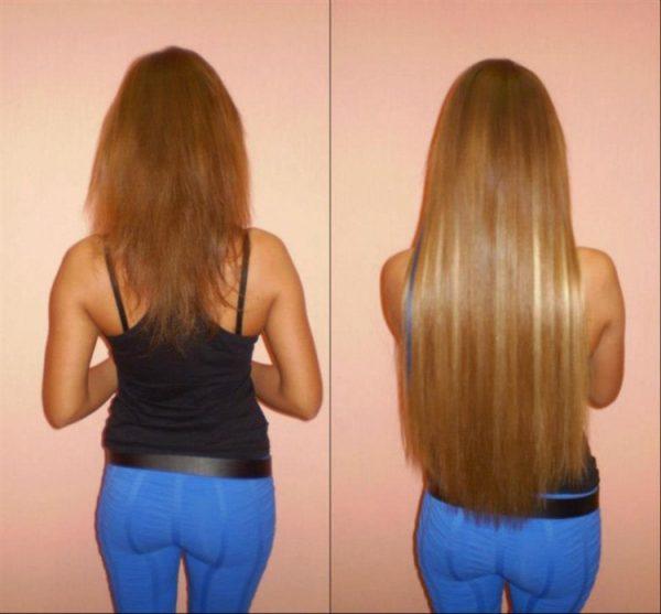 фото волос до и после