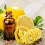 Пузырёк с маслом, лимоны