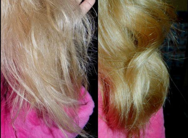 состояние волос до и после использования персикового масла