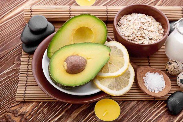 Авокадо, лимон, овсянка и морская соль