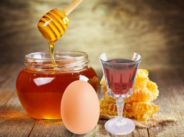 Мёд, яйцо, коньяк