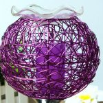 Аромалампа из цветной проволоки с чашей в виде цветка