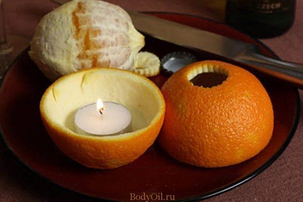 Аромалампа из апельсина