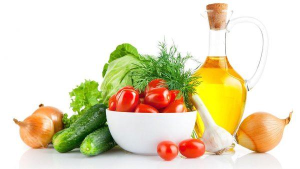 Овощи и масло кунжута