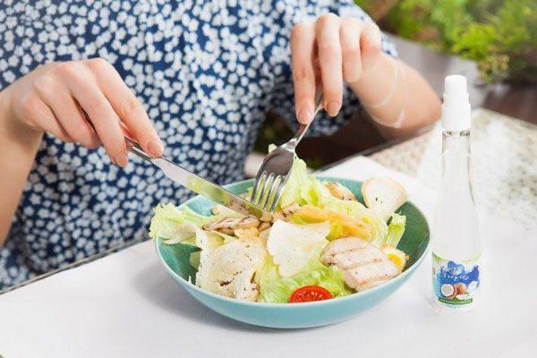 Салат с кокосовым маслом