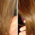 Волосы до и после курса применения масла пачули